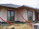 Pasivní dům Křenovice, montáž oken 2010